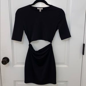Silence and noise mid sleeve dress with cutout